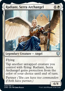 Radiant Serra Archangel Commander Legends Spoilers
