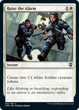 Raise the Alarm Commander Legends Spoilers