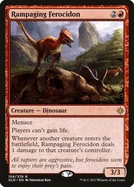 Rampaging Ferocidon Best Dinosaurs MTG