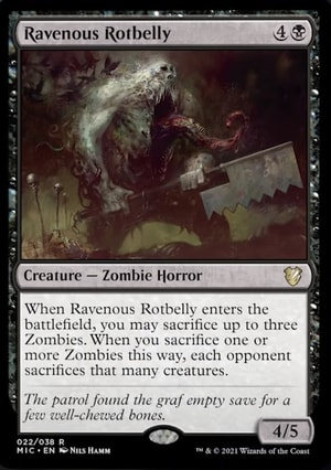 Ravenous Zombie Tribal Innistrad Decklist