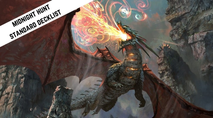 Red White Dragons Midnight Hunt Standard Decklist Banner