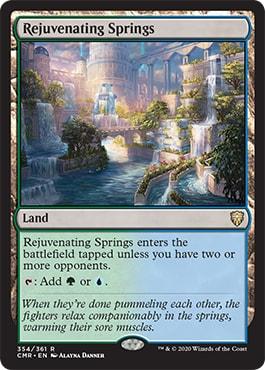 Rejuvenating Springs Commander Legends Spoilers Dual Lands