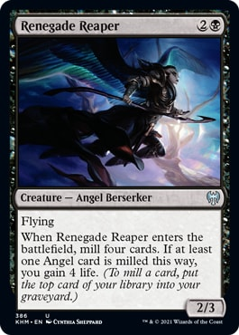 Renegade Reaper Kaldheim Theme Booster Exclusive Cards
