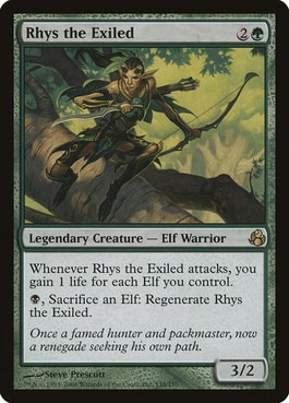 Rhys the Exiled Elf Deck Commander
