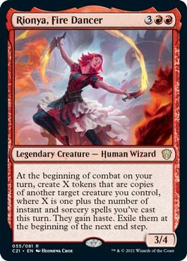 Rionya, Fire Dancer Best Strixhaven Commander 2021 Cards