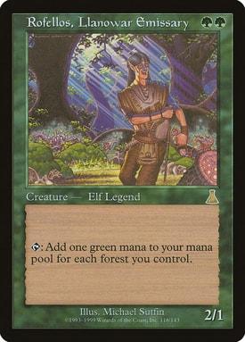 Rofellos Llanowar Emissary How to Build Mono Green Commander Deck