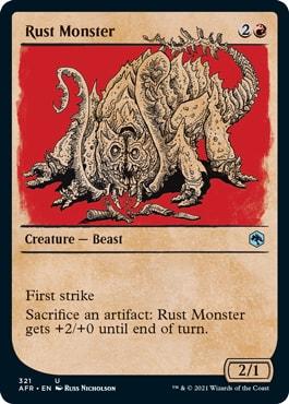 Rust Monster Alt Art MTG