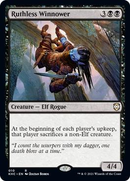Ruthless Winnwer Elven Empire Kaldheim Commander Decklist