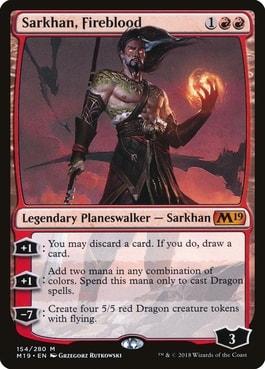 Sarkhan Fireblood Planeswalker for Dragon Deck