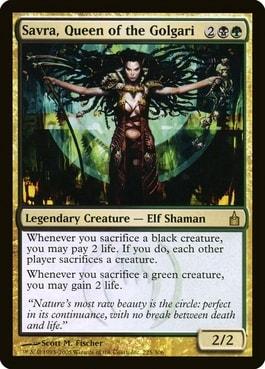 Savra Queen of the Golgari Lathril Blade of Elves Upgrade