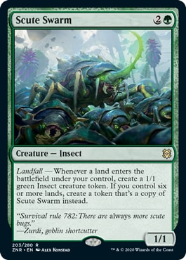 Scute Swarm Top 10 Best Zendikar Rising Commander Cards