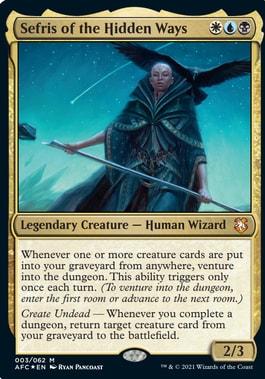 Sefris of the Hidden Ways Forgotten Realms Commander Precons Decklists
