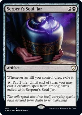 Serpent's Soul-Jar Elven Empire Kaldheim Commander Decklist