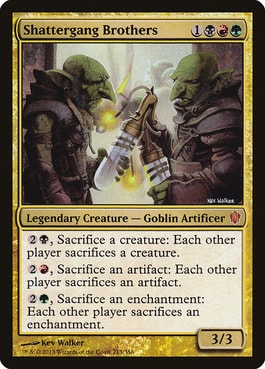 Shattergang Brothers Best Goblin Tribal Commanders