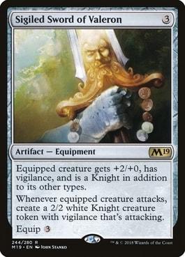 Sigiled Sword of Valeron Commander Tribal Knights
