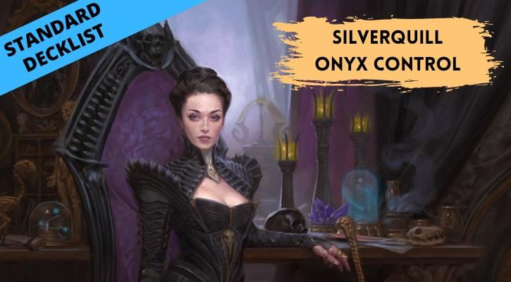 Silverquill Professor Onyx Control Standard Decklist Banner Liliana