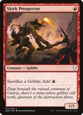 Skirk Prospector Best MTG Goblin Tribal Cards