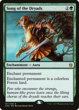 Song of the Dryads Mono Green Commander