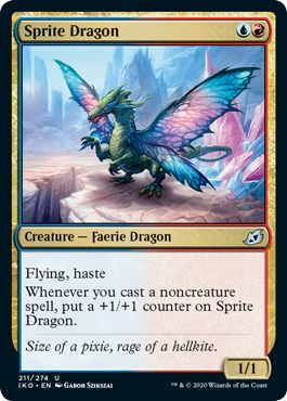 Sprite Dragon Izzet Spells Red Blue