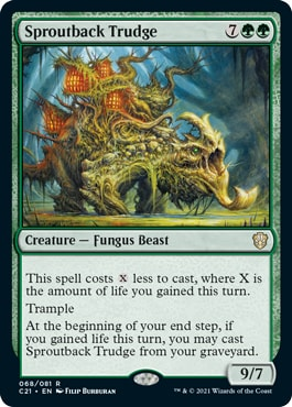 Sproutback Trudge Best Commander 2021 Cards