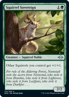 Squirrel Sovereign Best Tribal Squirrel Cards Lord