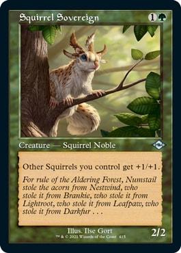Squirrel Sovereign Retro MTG Cards MH2