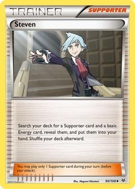 Steven Best Supporter Trainer Cards Pokemon TCG