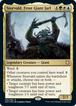 Storvald, Frost Giant Jarl Commander Deck