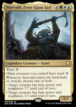 Storvald, Frost Giant Jarl Commander Decklist