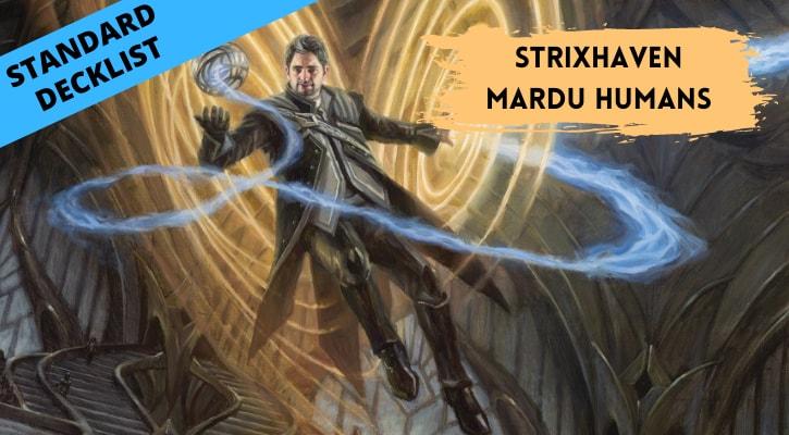 Strixhaven Mardu Humans Standard Decklist Banner