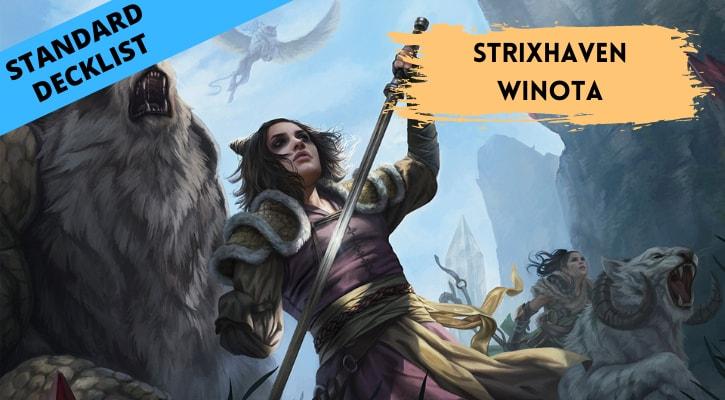 Strixhaven Winota Standard Decklist Banner