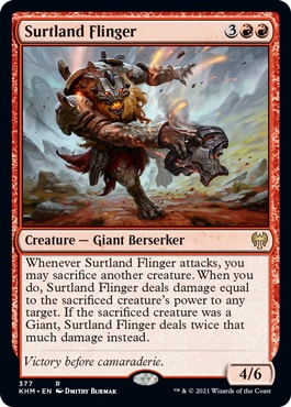 Surtland Flinger Kaldheim Set Theme Booster Exclusive Cards