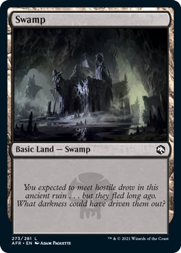 Swamp Adventures in the Forgotten Realms Basic Lands With Flavor Text