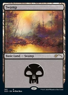 Swamp Bob Ross Basic Lands Arena