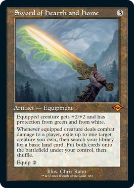 Sword of Hearth and Home Retro MTG Cards MH2