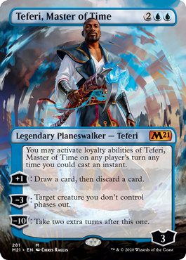 Teferi, Master of Time Borderless Core 2021 Collector Booster