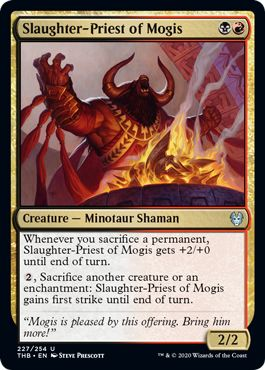 Theros Draft Guide Slaughter-Priest of Mogis