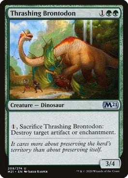 Thrashing Brontodon Best MTG Dinosaur Cards