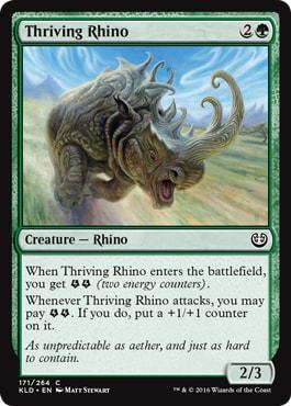 Thriving Rhino Best Commons Kaladesh Remastered Draft