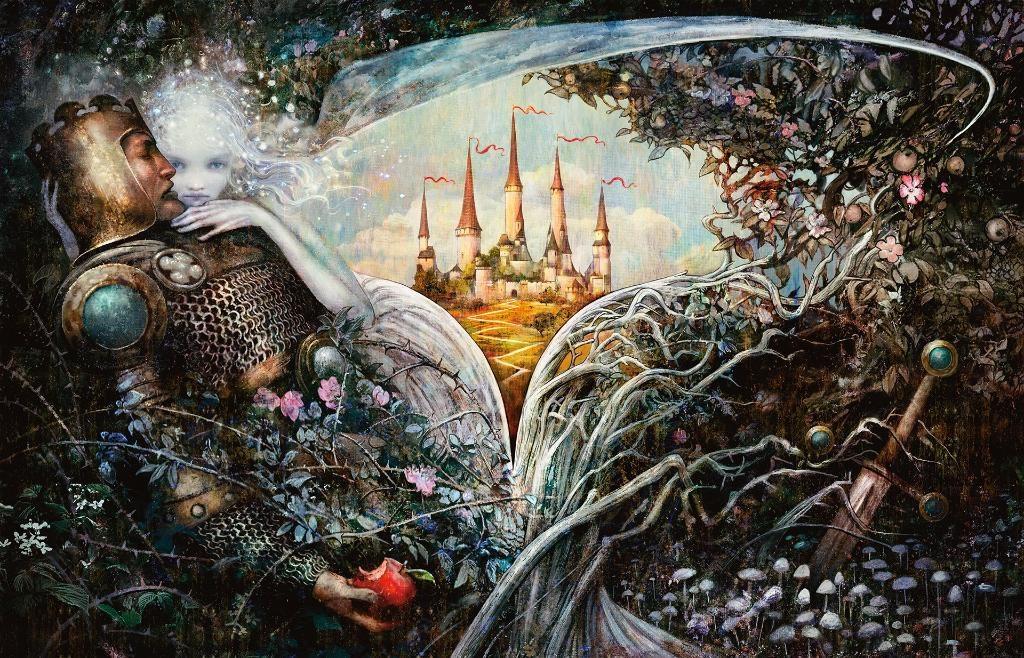 Throne-of-Eldraine-MTG-Sleeping-Beauty-Art
