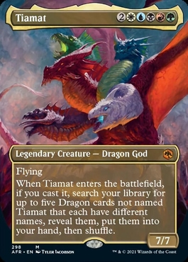 Tiamat Adventures in the Forgotten Realms Collector Booster Contents