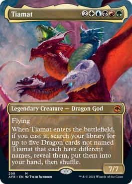 Tiamat Borderless Adventures in the Forgotten Realms Collector Booster