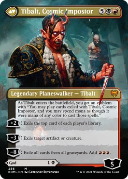 Tibalt Cosmic Impostor Kaldheim Collector Booster Contents