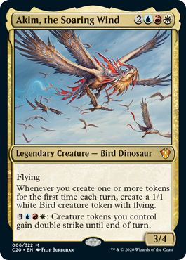 Timeless Wisdom Upgrade Akim the Soaring Wind Commander 2020 Ikoria