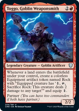 Toggo Goblin Weaponsmith Which Cards Are in Commander Legends