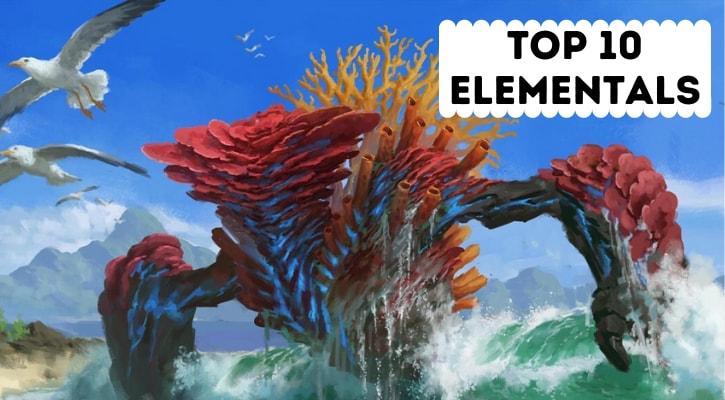 Top 10 Best MTG Elementals Banner