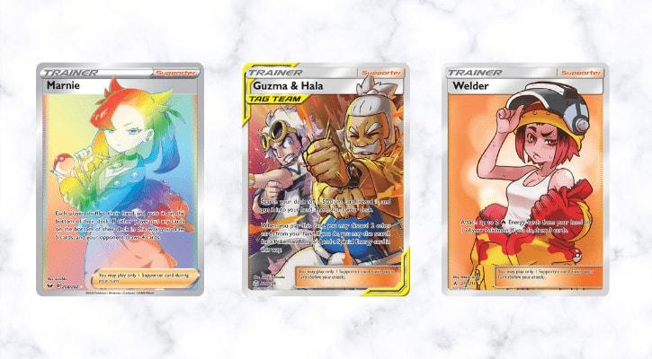Top 10 Best Supporter Trainer Cards Pokemon TCG Banner