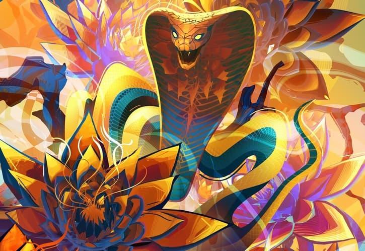 Top 10 Cards to Craft From Zendikar Rising on MTG Arena Banner Lotus Cobra