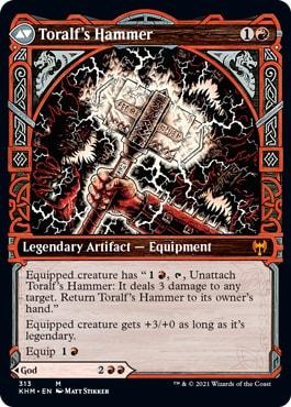 Toralf's Hammer Kaldheim Viking Showcase Cards