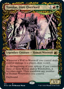 Tovolar, Dire Overlord Midnight Hunt Collector Booster Contents